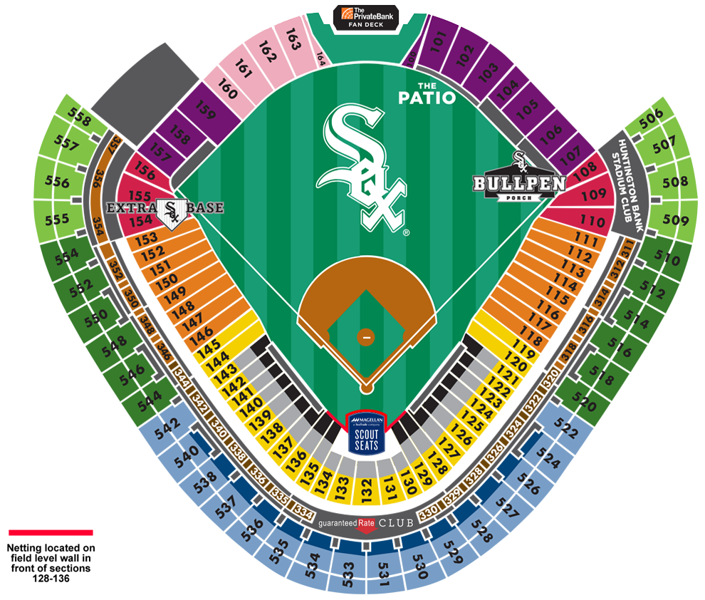 Guaranteed Rate Field Seating Map MLBcom - Us cellular field seating map